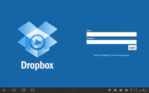 dropbox tablet