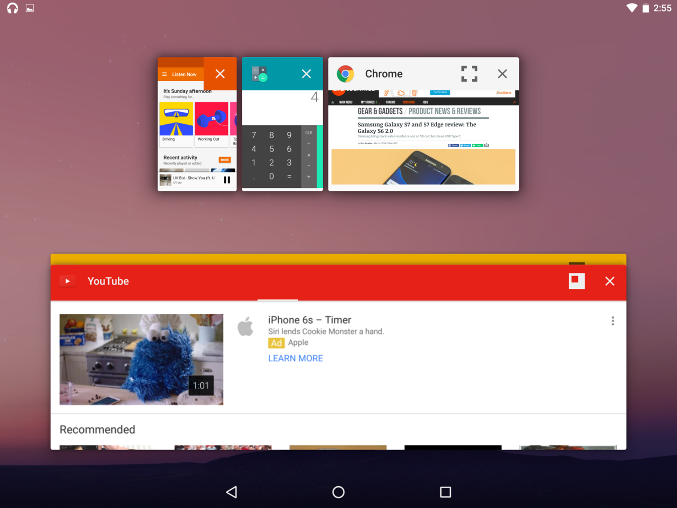 ventanas android n